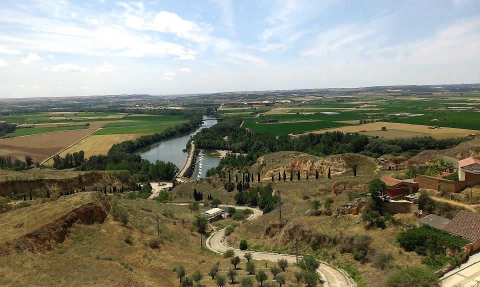 Pogled sa zidina Tordesiljasa, mesta rođenja moderne španske države