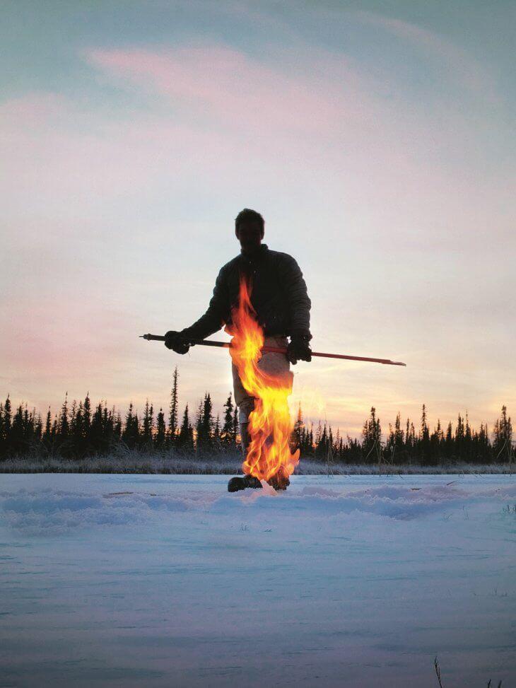 Leonardo DiKaprio Ice on Fire