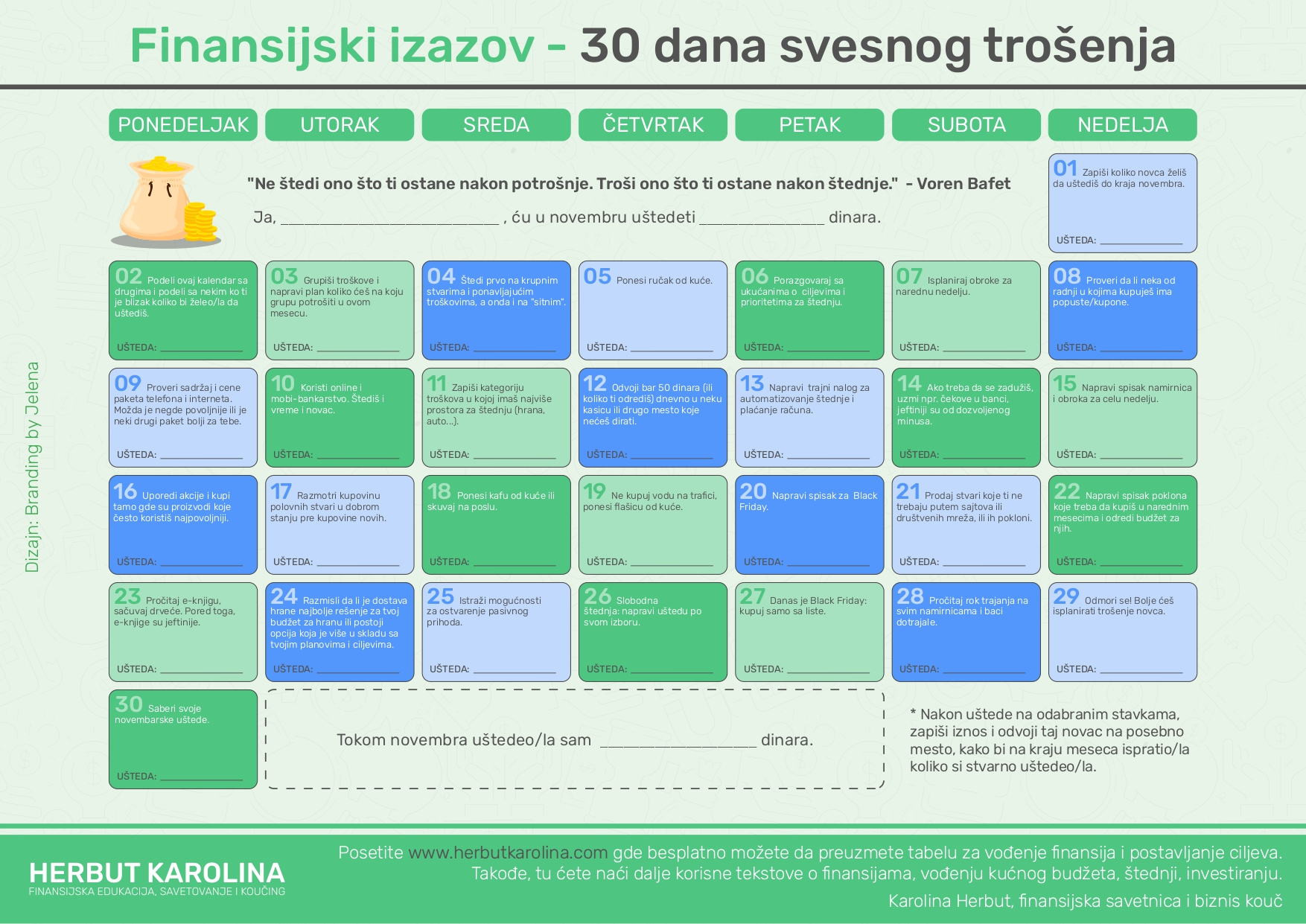 kalendar štednje