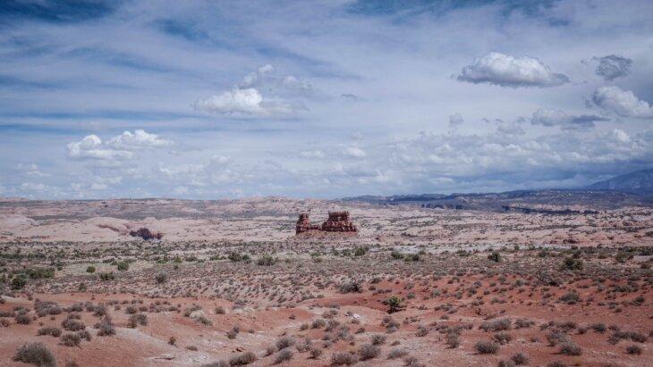 juta pustinja monolit